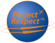 Project Respect (logo of a world with orbits)