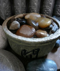 picture of a small rock fountain