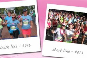 Goddess Run start and finish line