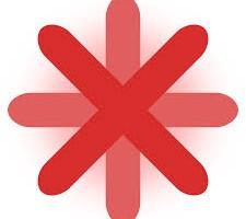 Red Asterisk Symbol