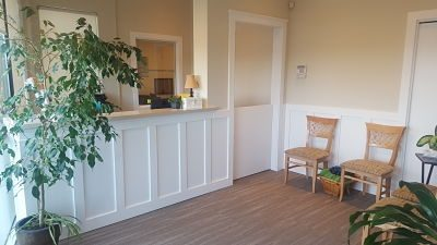 clinic reception area and waiting room