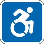 Wheelchair accessible symbol