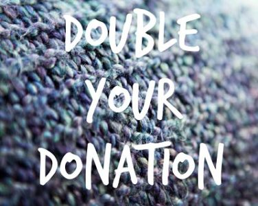 Double Your Donation sign