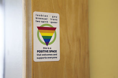 Positive space sticker